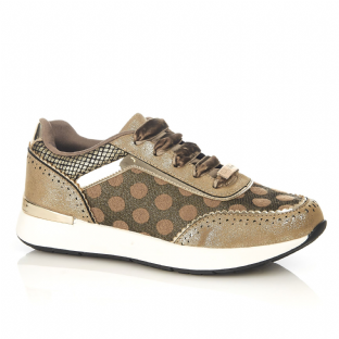 Ruby Shoo Darcy Gold Trainers / Shoes